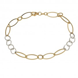 Bracciale a catena in oro 18k 750/1000 da donna