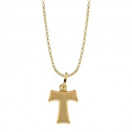 Gold 18k 750/1000 Man necklace with TAU cross