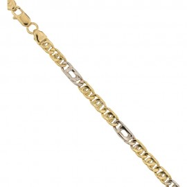 Gold 18k 750/1000 alternating tigre bracelet