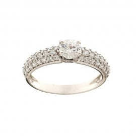 White gold 18k 750/1000 with cubic zirconia Solitaire ring