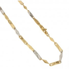 Gold 18k 750/1000 Rhombus man link chain