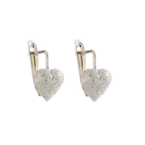 Gold 18k 750/1000 Leverback closure heart shaped child earrings