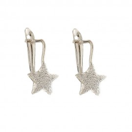 Gold 18k 750/1000 with diamond cut star child earrings