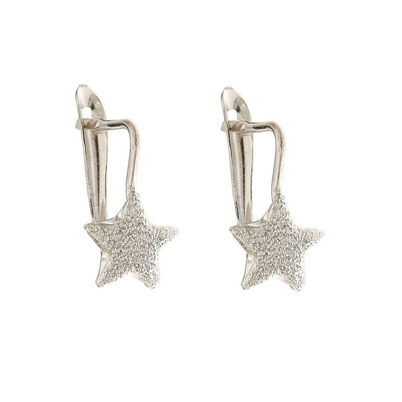 Gold 18k 750/1000 Leverback closure star shaped child earrings