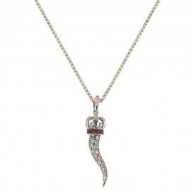 Gold 18k 750/1000 good luck amulet pendant woman necklace