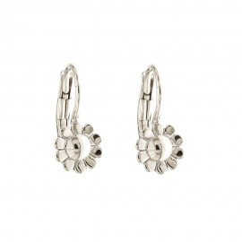 Gold 18k 750/1000 flower shaped shiny child earrings