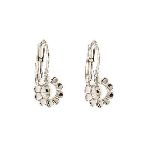Gold 18k 750/1000 flower shaped child earrings