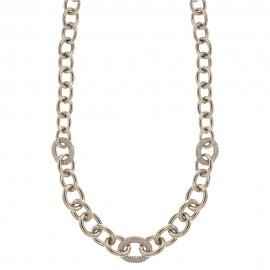 White gold 18k 750/1000 with white cubic zirconia woman necklace