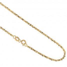 Gold 18k 750/1000 shiny flash woman necklace