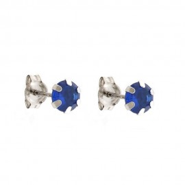 White gold 18k 750/1000 With Cubic Zirconia Solitaire Earrings