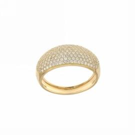 Gold 18k 750/1000 white cubic zirconia pavè woman ring