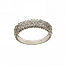 Gold 18k 750/1000 white cubic zirconia woman ring