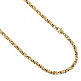 Yellow gold 18k 750/1000 link chain man necklace