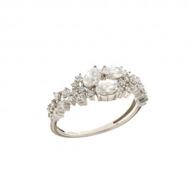 White gold 18k 750/1000 with white cubic zirconia wedding ring