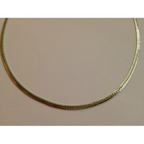Collana in acciaio lucido catena modello spiga