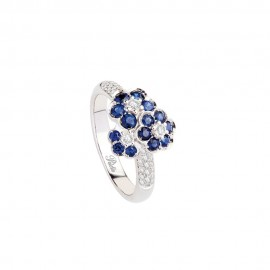 White gold 18k with diamonds and sapphires Polello woman ring