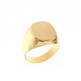 Yellow gold 18k 750/1000 shiny and satin man ring
