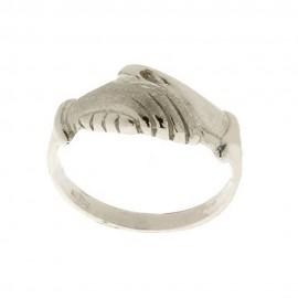 Anello di Santa Rita in oro bianco 18Kt 750/1000 da donna