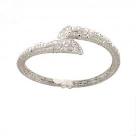 Bracciale rigido in oro bianco 18k 750/1000 modello filigrana da donna