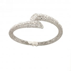 White gold 18k 750/1000 openworked rigid woman bangle