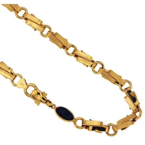 Yellow gold 18k Unisex link chain length 19.70 21gr