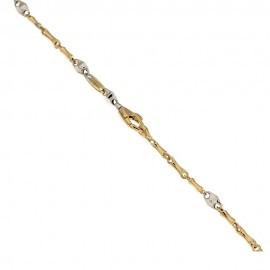 Gold 18k 750/1000 link chain shiny man bracelet