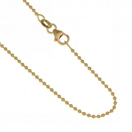 Gold 18k 750/1000 with spheres shiny unisex necklace