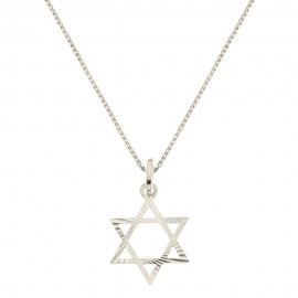 Gold 18 Kt 750/1000 David's star pendant woman necklace