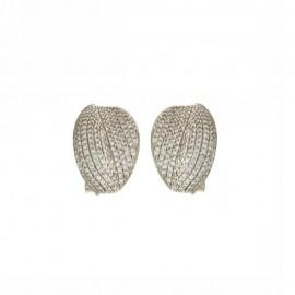 Orecchini in oro bianco 18 Kt 750/1000 con zirconi bianchi da donna