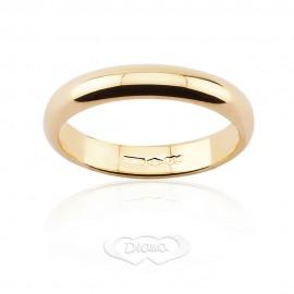 Yellow gold 18k Diana comfort wedding ring