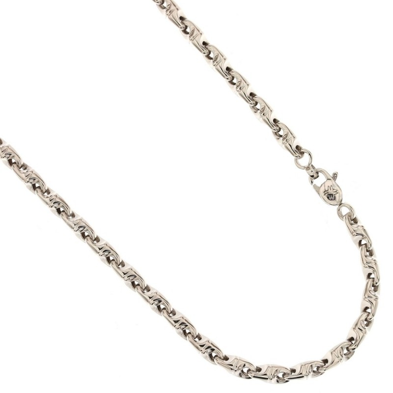 White gold 18k 750/1000 Length: 19.7 inch man link chain