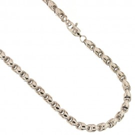 White gold 18k 750/1000 thickness 0.18 inch shiny man chain