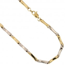 Catena tubolare in oro 18 Kt 750/1000 maglie vuote da uomo