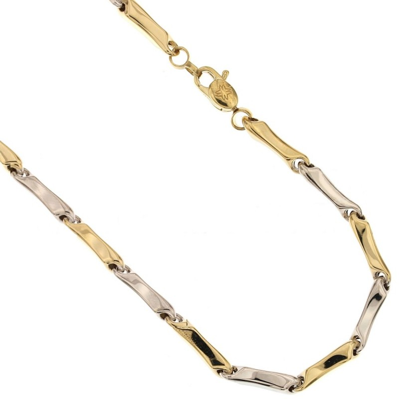 Gold 18 Kt 750/1000 Shiny Length: 19.70 inch man necklace