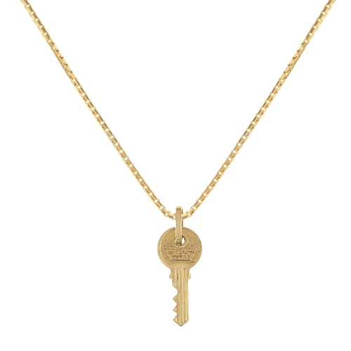 Collana in oro giallo 18 Kt 750/1000 con pendente a forma di chiave