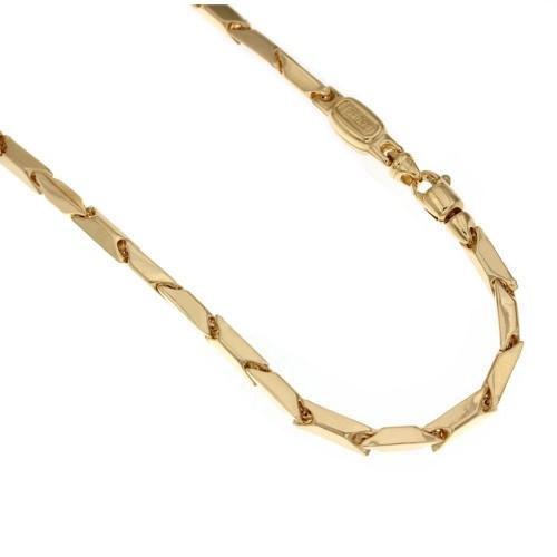 Catena in oro 18 Kt 750/1000 maglia a rombo vuota da uomo