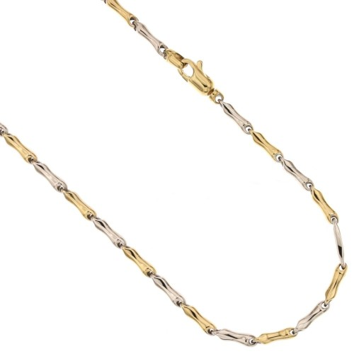Gold 18k 750/1000 shiny barrette type man chain