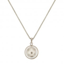 White gold 18k 750/1000 with pearl pendant woman necklace
