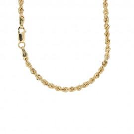 Collana in oro 18 Kt 750/1000 a maglia intrecciata spessore 2.60 mm