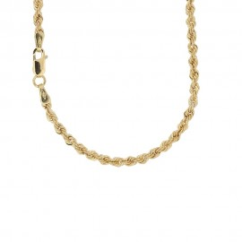 Yellow gold 18k 750/1000 interlaced chain necklace Tickness: 0.10 inch
