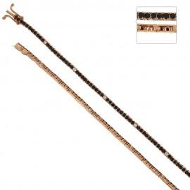 Bracciale Tennis in oro rosa 18 Kt 750/1000 con zirconi neri e bianchi unisex