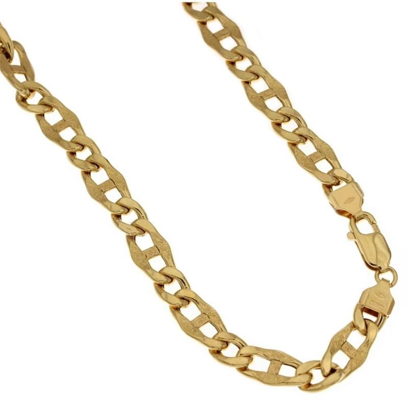 Catena in oro giallo 18 Kt 750/1000 lunghezza 50cm a maglia marina da uomo