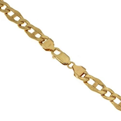 Bracciale in oro giallo 18 Kt 750/1000 lunghezza 20cm a maglia marina da uomo