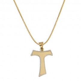 Yellow and white gold 18Kt 750/1000 with Tao pendant child necklace