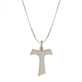 White gold 18Kt 750/1000 with Tao pendant child necklace