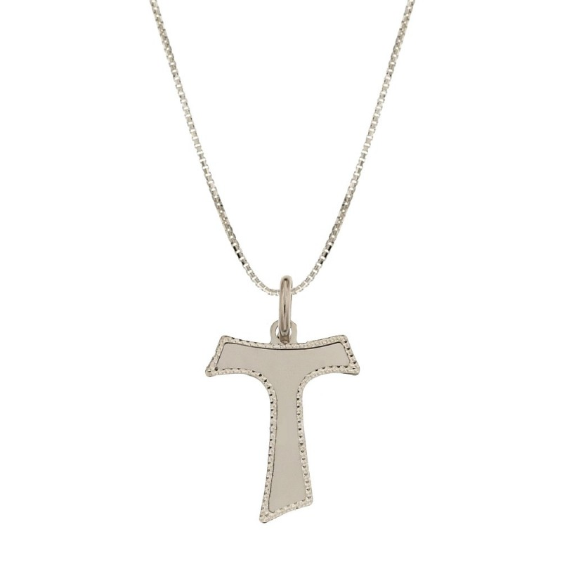 18k White gold Tao pendant for child necklace