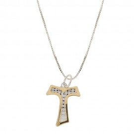 White and yellow gold 18k 750/1000 with Tao pendant for child necklace