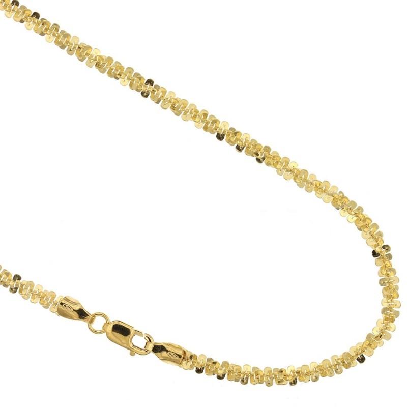 Collana in oro giallo 18 Kt 750/1000 maglia flash da donna