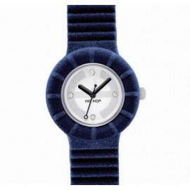 Hip Hop blue cloth woman watch HWU0143