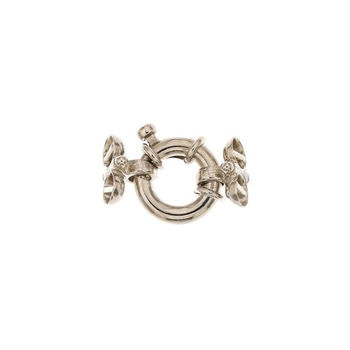 White gold 18k 750/1000 clasp suitable for two wires necklace